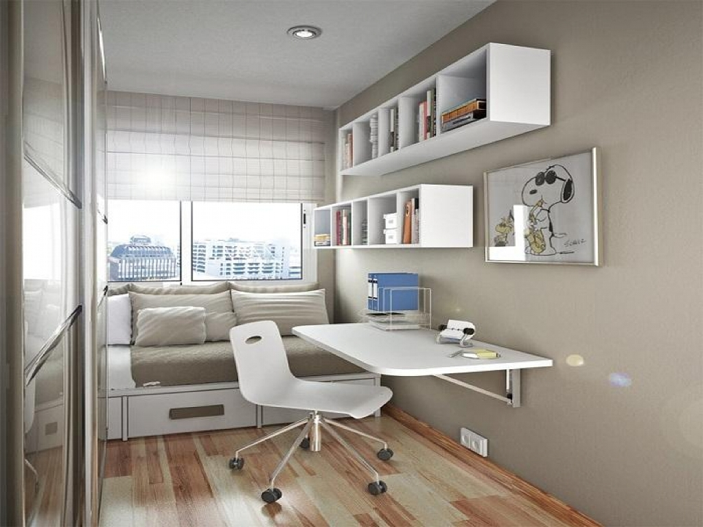 innovative design 71d12 1f4f2 Modern-Home-Office-for-Small-Space-Using-Small-Writing-Desk ...
