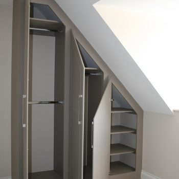 angled ceiling wardrobes